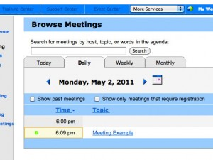 WebEx Browse Meetings Image