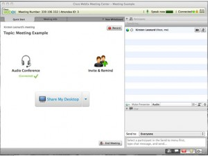 WebEx Meeting Page Image